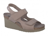 Chaussure mephisto sandales modele tiny nubuck taupe clair