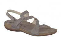 Chaussure mephisto Marche modele adelie imitation lézard taupe