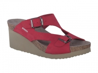 Chaussure mephisto sandales modele terie nubuck rouge