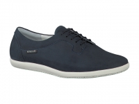 chaussure mephisto lacets karole nubuck bleu nuir