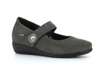 Chaussure mobils Boucle modele jessy nubuck gris