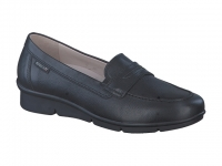 Chaussure mephisto mules modele diva cuir lisse noir