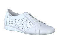 chaussure mephisto lacets belisa perf cuir blanc
