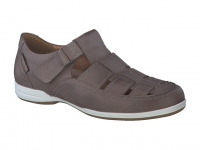 Chaussure mephisto mocassins modele rafael cuir taupe