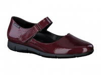 Chaussure mephisto mules modele jenyfer cuir fripé bordeaux