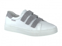 Chaussure mephisto mules modele annabella blanc argent