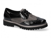 chaussure mephisto lacets selenia verni noir