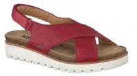 Chaussure mobils mocassins modele tally rouge