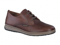 chaussure mephisto lacets lester cuir lisse chataigne