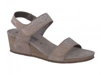 Chaussure mephisto sandales modele maria spark nubuck taupe clair