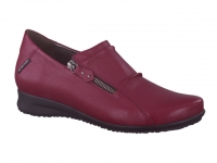 Chaussure mephisto Ballerines modele faye cuir texturé rouge carmin