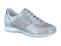 Chaussure mephisto velcro modele mady perf argent