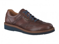 Chaussure mephisto mocassins modele adriano cuir lisse chataigne