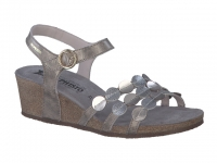 Chaussure mephisto velcro modele matilde taupe foncé