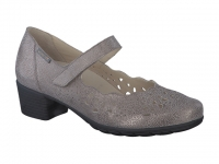 Chaussure mephisto sandales modele ivora cuir taupe foncé