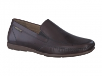 Chaussure mephisto sandales modele andreas cuir brun foncé