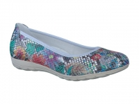 chaussure mephisto Ballerines emilie cuir multicouleur