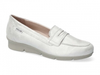 Chaussure mephisto Compensée modele diva cuir blanc