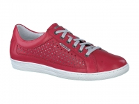 Chaussure mobils mocassins modele hilda perf rouge