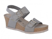 Chaussure mephisto Marche modele lissandra nubuck gris clair