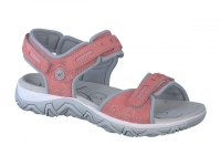 Chaussure all rounder velcro modele lagoona corail