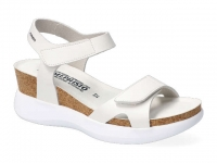 Chaussure mephisto velcro modele coraly blanc