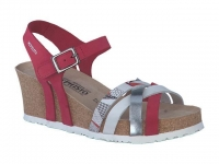 Chaussure mephisto Compensée modele lanny rouge argent