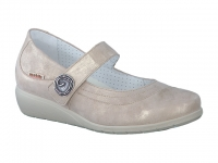 Chaussure mobils lacets modele jessy beige