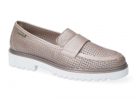 Chaussure mephisto velcro modele sylvie perf taupe