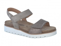 Chaussure mobils mocassins modele thelma taupe