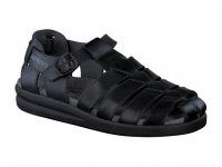 Chaussure mephisto mules modele sam cuir lisse noir