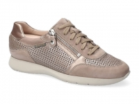 Chaussure mephisto velcro modele molly perf taupe clair