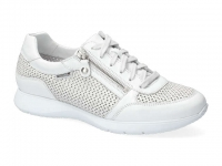 Chaussure mephisto velcro modele molly perf blanc